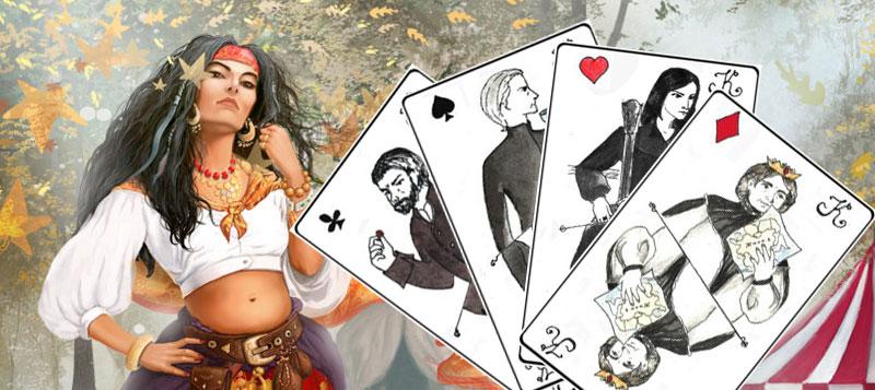 Гадание 4 короля на игральных картах